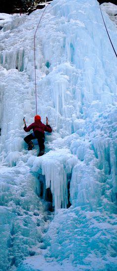 Ice Climbing, Ouray CO.