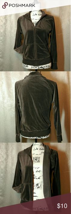 Brown Velour Activewear Jacket Super soft and comfy. Front zipper closure and hand pockets. GAP Jackets & Coats