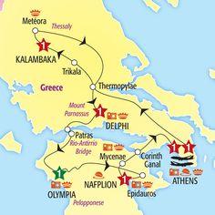 Glories of Greece Reverse Escorted Tour 2013