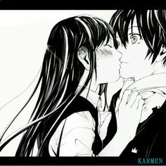noragami yato and hiyori kiss - Buscar con Google