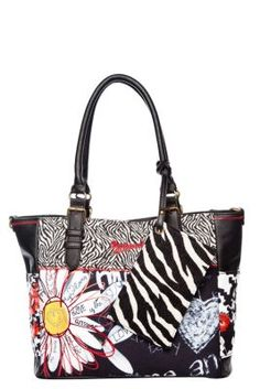 Desigual women's Saintyropez-Flojigsaw bag. This messenger bag can also be worn on the forearm to highlight its style. However you wear it, you'll look great!