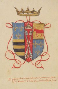 Cesare Borgia's ducal coat of arms, adding the French fleur de lis after he successfully wins the King of France to his side. Borgia History, Pope Paul Iii, Fan Wiki, Louis Xii, Charles Viii, Italy History, The Borgias, Italian Renaissance, St Francis