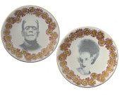 Dr. SteamPunk Portrait - Altered Antique Plate. $49.00, via Etsy.