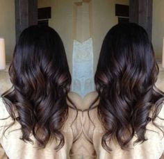 Brunettes can join the fun too! I love a great chocolate brown with mahogany lowlights.