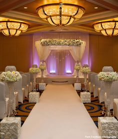 Wow, love the bling going down the aisle