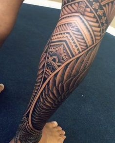 Wings in Leg Work by Samoan Mike #samoantattooswomen