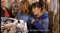 LIZZIE MCGUIRE - The horror of first-time bra shopping.