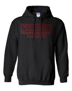 Hooded sweatshirt strange thing Stranger Things Printed hoodie jumper by…