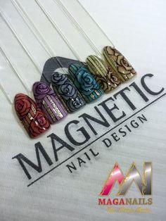 3D gel, One Coat Color Gel, Nail Art, MagaNails, Albina Maria, Magnetic