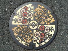 Beautifully designed and colored manhole coverSSS (lots of them) in Japan -