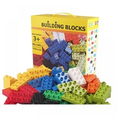 Big Size Bricks Set City DIY Creative Bricks Toy Child Educational Wange Building Block Brick Compatible With Lego Duplo Building Toys, Model Building, Lego Duplo, Box Packaging, Kids Playing, Diys, Happy Birthday, Shapes, Bricks