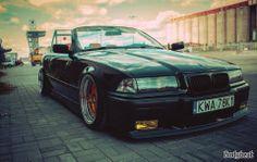 BMW E36 3 series cabrio black slammed