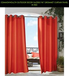 """Commonwealth Outdoor Decor Gazebo 96"""" Grommet Curtain Panel in Red #fpv #racing #products #drone #gazebo #gadgets #curtain #parts #plans #technology #outdoor #shopping #tech #kit #decor #camera"""