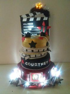 Hollywood  Cake by nelly.  Cake for me