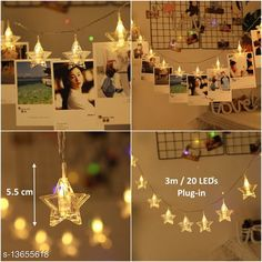 Lights 20 Star Photo Clip LED String Light Material: Plastic Waterproof: Yes Pack: Pack of 1 Cable Length: 3 M Country of Origin: India Sizes Available: Free Size   Catalog Rating: ★4.2 (1024)  Catalog Name: Trendy Indoor String Lights CatalogID_2689180 C127-SC1620 Code: 023-13655618-447