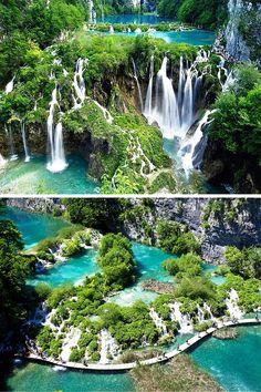 Plitvice Lakes, Croatia! 20 UNREAL Travel Destinations you have to see!! Click through to read the full post!