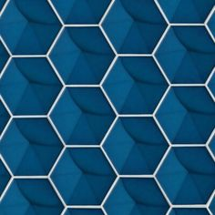 Hedron Gloss x Wall Tile in Electric Blue, Sold by the Carton Ceramic Mosaic Tile, Ceramic Subway Tile, Mosaic Glass, Marble Mosaic, Champs, 3d Wall Tiles, Tile Stores, My Pool, Decorative Tile