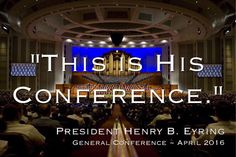 His conference