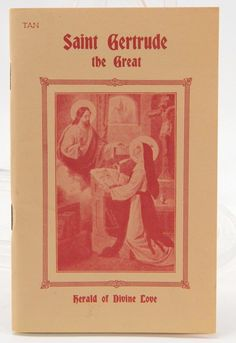 St. Gertrude the Great Herald of Divine Love TAN Catholic Booklet 1989 Her Life 11910 epsteam by QueeniesCollectibles on Etsy