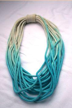 Bromeliad: DIY dip-dye necklace
