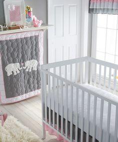 Pink & Gray Parade Crib Bedding Set
