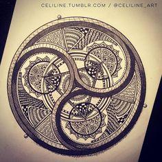 I like the middle shape mandala - Pattern / Art Design / Zentangle Mandala Pattern, Zentangle Patterns, Mandala Design, Pattern Art, Zentangles, Mandala Tattoo, Mandala Art, Flower Mandala, Tattoo Studio
