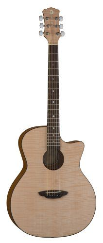 Save $ 108.5 order now Luna GYPFLM Gypsy Flame Acoustic Guitar at Cheap Guitars