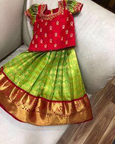 For the cute lil rockstars - handloomskalpavruksh Indian Dresses For Kids, Stylish Dresses For Girls, Dresses Kids Girl, Girls Frock Design, Baby Dress Design, Kids Dress Wear, Kids Gown, Baby Frocks Designs, Kids Frocks Design