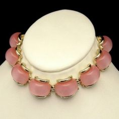 PRETTY IN PINK! This gorgeous vintage necklace features beautiful, large pink thermoset stones. $119 or Best Offer