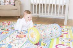 ¡Sonajero hinchable para bebés! Juego con sonido y movimiento que favorece la coordinación corporal de tu peque, especialmente al empezar a gatear. #bebe #gatear #sonajero #juguete