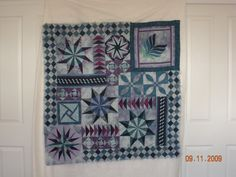 Coffs Harbour Mystery Quilt Challenge - in process on design wall.