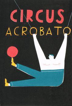 Circus Acrobato - Max Machen Illustration