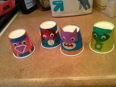 Finger/hand puppets/super hero crafts   Super hero crafts for kids