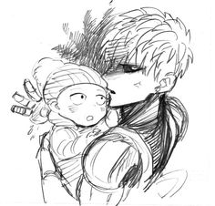 One Punch Man - Genos & little Saitama