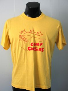 301d29a510a5 Vintage Camp Cousins T-shirt Family Reunion Shirts, Retro Summer, Vintage  Tees,