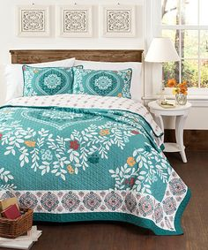 Blue New Bold Quilt Set   zulily $84.99    100% cotton