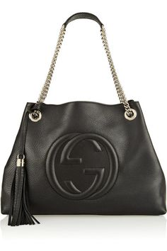 6aad7739a7 Black textured-leather (Calf) Lobster clasp fastening at top. Over The Shoulder  BagsGucci ...
