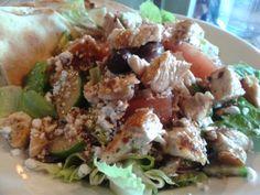 Greek Salad w/ Chicken @ Greek Grill.  $10.25 plus tax