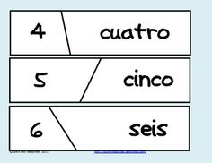 FREE Self Correcting Puzzle for Spanish Number Words