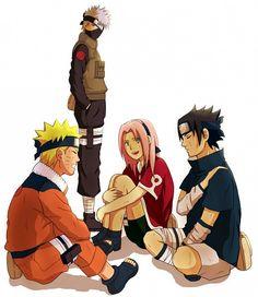 Sakura,  Naruto, Sasuke, Kakashi