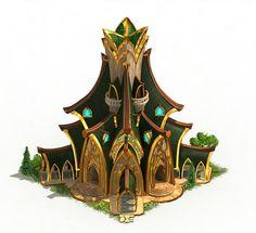 Elvenar - Fantasy City Builder Game with elves and humans Fantasy City, Fantasy Castle, Fantasy Places, High Fantasy, Dark Fantasy Art, Medieval Fantasy, Fantasy World, Environment Concept Art, Environment Design