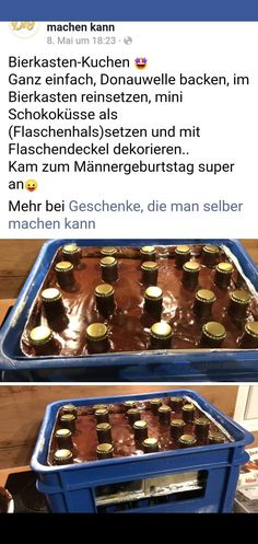 Beer crate cake 🤣👍- Bierkasten-Kuchen 🤣👍 Beer Box Cake Beer Box Cake The post beer box cake appeared first on cake recipes. Food Cakes, Sweet Bakery, Pumpkin Spice Cupcakes, Box Cake, Fall Desserts, Creative Cakes, No Bake Cake, Cake Recipes, Food And Drink