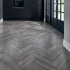 Create a traditional design with our hardwearing professional grey chevron laminate flooring. Grey Laminate Flooring, Hallway Flooring, Living Room Flooring, Parquet Flooring, Wood Laminate, Wooden Flooring, Kitchen Flooring, Tiled Hallway, Parkay Flooring