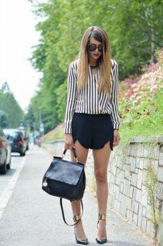 camicia a righe fashion blogger idee outfit