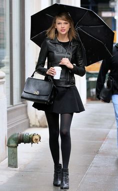taylor swift rainy day outfit