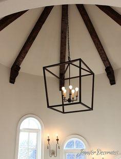 Wood Ceiling Ideas from Jennifer Decorates.com