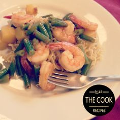 This yummy twist on an Asian noodle dish is not your college ramen. Pineapple Shrimp and Crispy Noodles