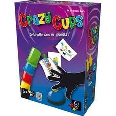 Dans Crazy Cups, chaque joueur reçoit cinq gobelets en cinq couleurs. A chaque début de tour, une carte combinant cinq éléments reprenant les mêmes couleurs que les gobelets est révélée. Les joueurs doivent alors aligner ou empiler rapidement leurs gobelets afin de reproduire exactement la même disposition que celle des éléments de la carte. Attention, il est important de bien suivre l'ordre et le sens des couleurs !