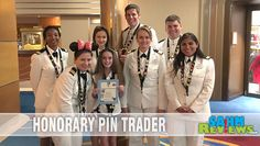Pin trading with Disney goes beyond the parks and onto Disney Cruise Lines! Our daughter was the Honorary Pin Trader on the Disney Wonder. - SahmReviews.com