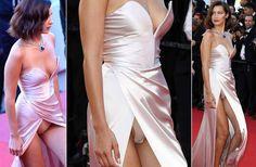 Die traut sich was! Bella Hadid bei der Eröffnungszeremonie der 70. Filmfestspiele in Cannes - mit meeeeegakrassem Höschenblitzer, der eindeutig Absicht ist. Wow!